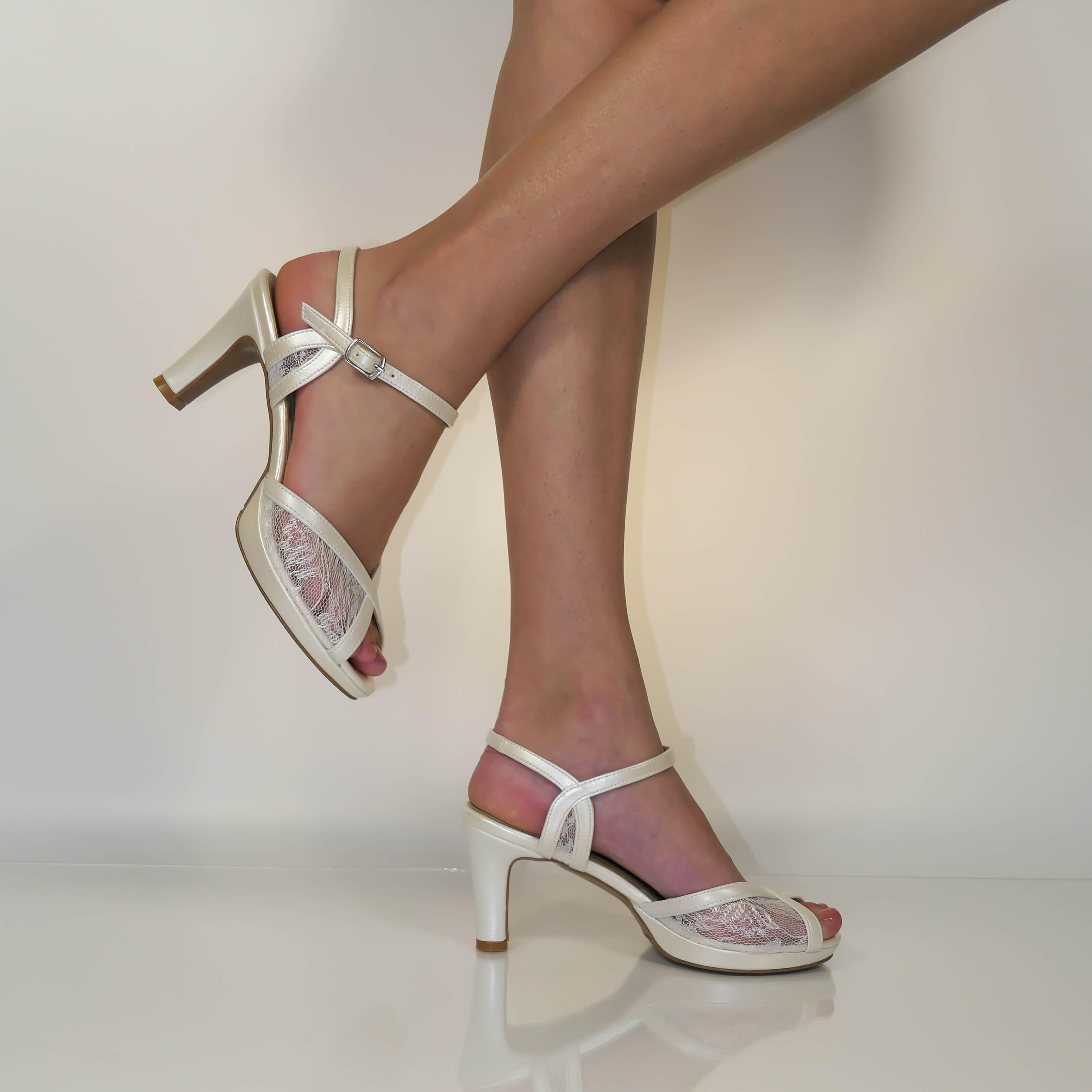 SAVANNAH נעלי כלה תחרה